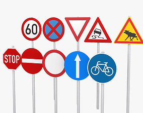Traffic Signs 3D streetsign