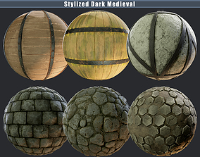 3D Stylized Dark Medieval Pack Texture