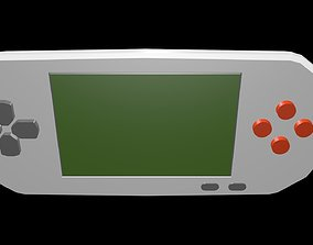 Low poly Game Console 1 3D asset