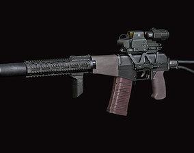 3D asset AS VAL russian rifle