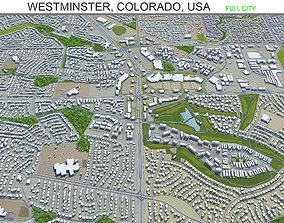 Westminster Colorado USA 30km 3D model realtime