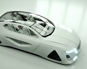 Affekta X-Fusion Sci-Fi concept car BEST 3D model 1