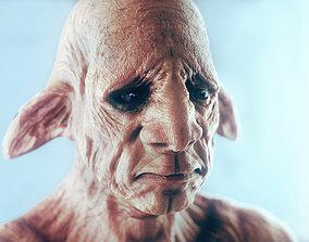 3D SAD ELF Character Bust