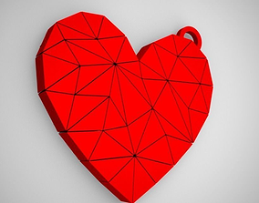 3D printable model Polygonal Heart Keychain