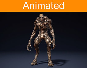 Creature Alien 3D asset animated