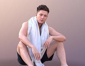 3D asset Dan 10482 - Sitting Summer Man