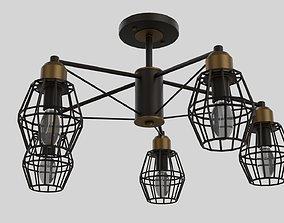 3D Dark chandelier