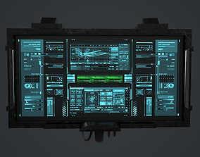 3D asset Sci-Fi Screen - television VideoGame