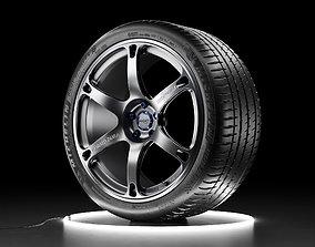 3D model Car wheel Michelin Pilot Sport 4S tire with 3
