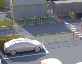 Yellow Barrier 3D asset