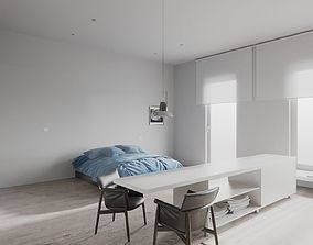 Minimalist Apartment scene for Cinema 4D and 3D model 1
