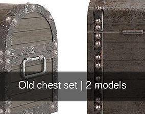 Old chest set 3D