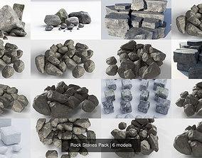 Rock Stones Pack 3D model