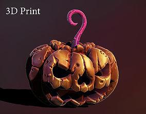 Halloween pumpkin 3D printable model vegetable