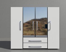 bed Closet 3D asset low-poly
