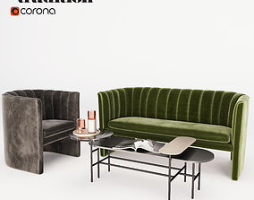 3D ANDtradition Sofa Lounge chair and Table