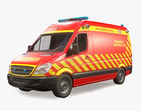 3D model Fire and Rescue Vehicle Low Poly