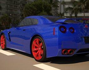 3D nissan GTR