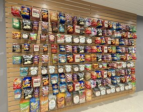 Snacks and Chips on Slatwall 3D model