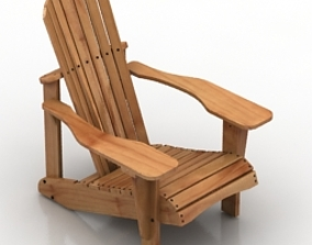 3D Armchair-Adirondack