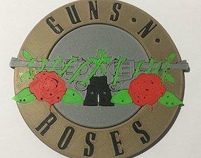 Guns N Roses Logo Coaster 3D printable model