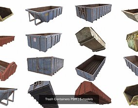 unity 3D model Trash Containers PBR
