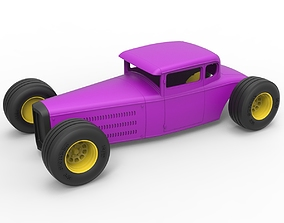 Diecast shell and wheels for Hot rod 3D printable model 4