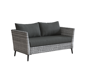 3D model Gray All Weather Malique Outdoor Loveseat