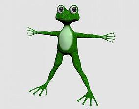 Green cartoon frog 3D model