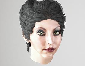 3D model realtime Female hair 3 colors