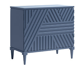 dresser 3D Colby Drawer Chest Blue