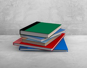 Free Books 3D Model Download - Low Poly game-ready
