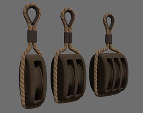 Ship pulley 3D model