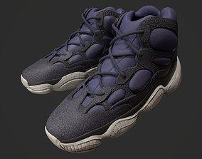 Sneaker YEEZY 500 High - Slate - Kanye West - 3D model