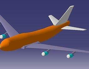 Boeing-747-400 Air Freighter 3D model