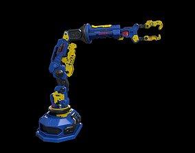 3D model Low poly sci fi robotic arm