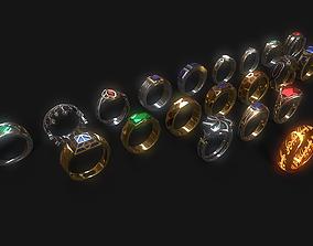 3D asset Rings Of Power LOTR