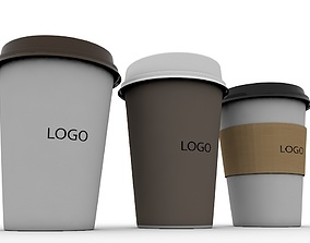 3D Paper Coffee Cup paper