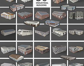 3D model 29 Industrial Buildings Warehouse Factory 1