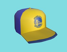 Golden State Warriors Cap - Low Poly NBA - 3D model 1