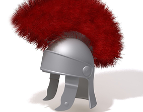 3D model Roman helmet cartoon