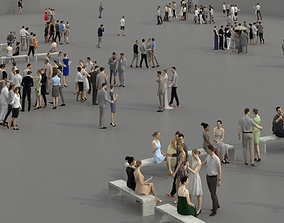 low-poly 3D PEOPLE CROWDS -PLAZA SQUARE - ULTIMATE SPEED