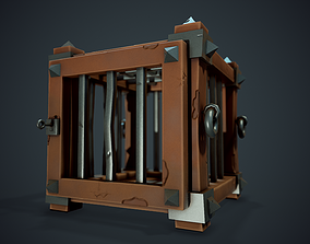 Stylized Cage - Tutorial Included 3D model