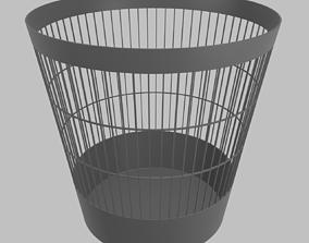 3D dustbin Trash Can