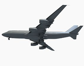 3D model Jet Aircraft Landing Scene