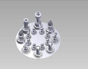 chess set 3D printable model