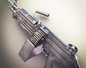 M249 Machine Gun Hi-Res 3D model