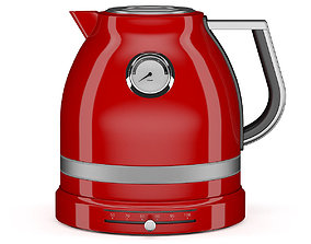 Red Electric Kettle 3D model