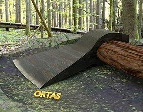 ORTAS AXE NO 9 REALISTIC GAME READY AXE 3D