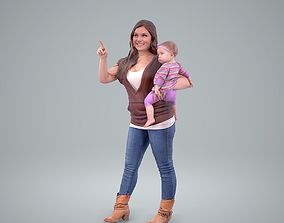 Woman Holding a Baby Girl CWom0203-HD2-O01P01-S 3D
